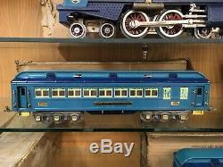 Lionel Standard Gauge Blue Comet Set with 400E Loco, 400T, 420 / 421 / 422 Cars OB