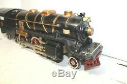 Lionel Standard Gauge Prewar #400E Black Locomotive with Brass Trim