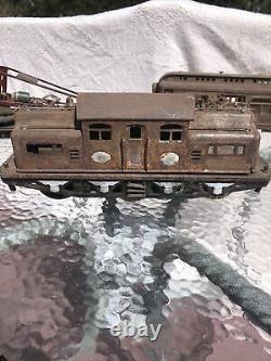 Lionel Standard Gauge Restoration 402 Electric With 219 Crane and Parlor/Baggage