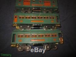 Lionel Trains Prewar 332 339 341 Standard Gauge Passenger Cars Peacock Orange