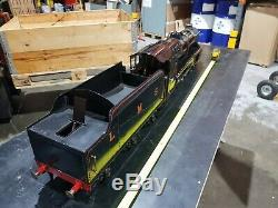 Live Steam 3 1/2 inch gauge locomotive and tender Black Five Model 3.5 train