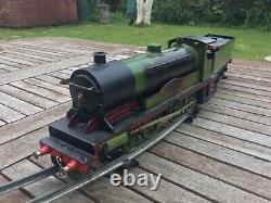 Live steam O gauge locomotive