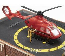 MENARDS FIRE STATION NO 9 BUILDING ACCESSORY With ANIMATION! O GAUGE SCALE HOUSE