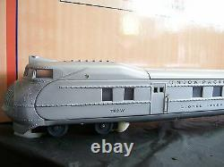 MTH Lionel Corp. All Metal Union Pacific O Scale StreamLiner Passenger Set Rare