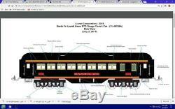 MTH Lionel Corporation Tinplate 11-1071-1 & 11-40126 Santa Fe STD Gauge New Rare