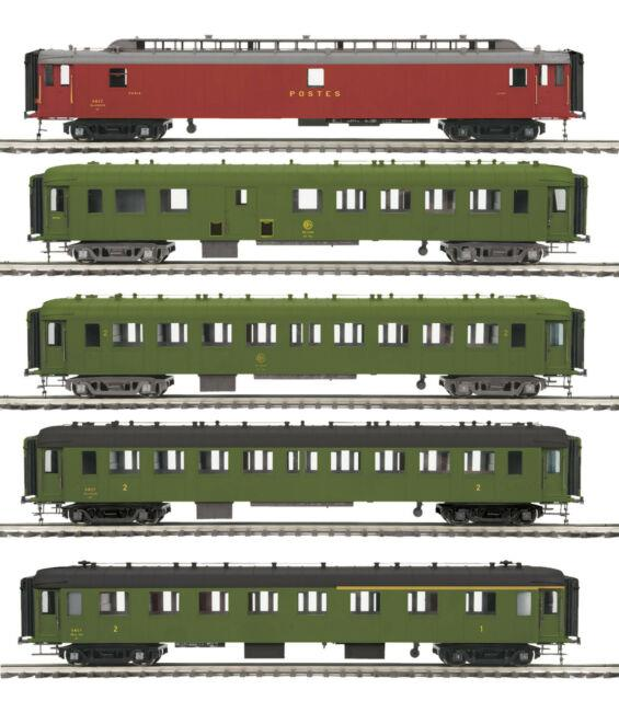 Mth Ocem Scnf 5-car Passenger Set For 3 Rail O Gauge 20-60026