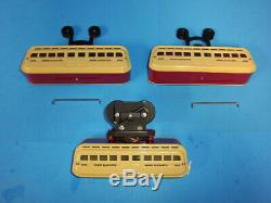 MTH O Gauge Tinplate Detroit Monorail Set (Traditional) -Red /Cream 10-3047-0