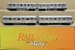 MTH RailKing 30-2162-1 MTA 4-Car Subway Set with Proto-Sound by QSI O-Gauge LNOS