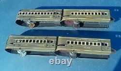 Marx Mercury Prewar O O27 Gauge Passenger Car Train Set Steam Locomotive NYC