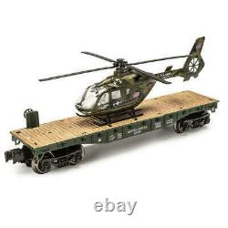 Menards O Gauge Us Army Flatcar With Us Army Military Helicopter Lionel