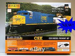 Mth Rail King Csx Dash 8 Diesel Freight Train Set Proto 3 O Gauge 30-4248-1 New
