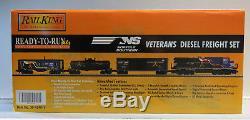 Mth Rail King Ns Veterans Diesel Freight Train Set Proto 3 O Gauge 30-4240-1