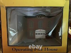 Mth Railking Operating Fire House Building Accessory 30-9102! O Gauge Station
