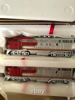 Mth Santa Fe El Capitan Fe F-3 A-b-a Diesel Train Set O Gauge 30-2153-1 New