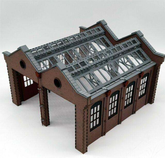New! Modelux O Gauge Double Road Victorian Engine Shed -short Shed