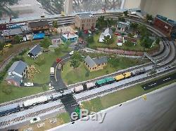 N Scale Custom Built Train Layout N gage set