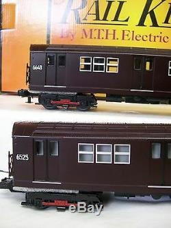 New Release Dark Maroon MTH R-17 Four Car Subway Set O Gauge Three Rail PS 3.0