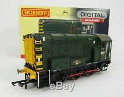 OO Gauge Hornby R2903XS DCC SOUND Class 08 D3105 BR Green Shunter Loco