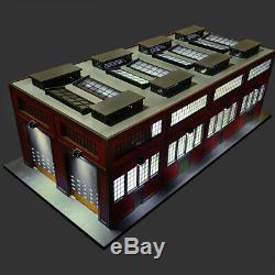 O Gauge Modern Engine House withMotorized Doors, Indoor/Outdoor Lighting
