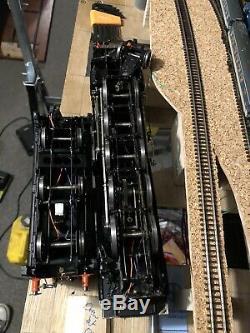 O gauge kit built 9f locomotive locmotive with Tyne Dock compressor gear