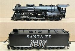 Pecos River Brass 3450 Santa Fe #3458 Hudson 4-6-4 Steam Engine O-Gauge LN