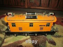 Pre War Lionel O Gauge 1924-34 Lighted Tin Plate 256 Engine 2 Pullman 710 Ob 712