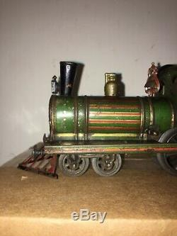 Prewar Issmayer Wind Up Locomotive O Gauge Germany Tinplate