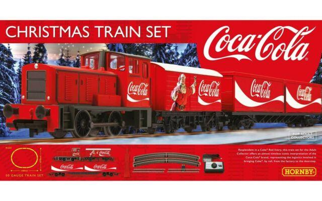 R1233m Hornby 00 Gauge The Coca Cola Christmas Starter Train Set Brand New Boxed