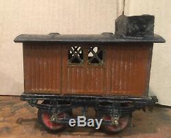 Rare Prewar French FV Dessin Jep Train Set Windup Tinplate O Gauge Locomotive