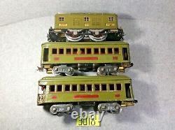 Set Of Standard Gauge Lionel # 8e & # 337 Pullman, #338 Observation Car