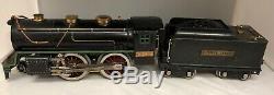 Vintage 1920s Lionel No. 384-E Locomotive + 384-T Tender Black Standard Gauge