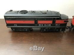 Vintage 1969 Lionel O Gauge Rock Island 2041 Diesel Set with Extra Cars