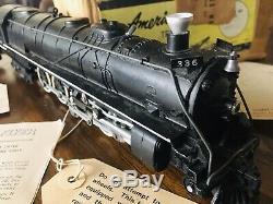 Vintage American Flyer S Gauge No. 336 UP Northern 4-8-4 Steam Engine & Tender