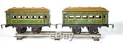 Vintage American Market Bing 0-gauge Cast Iron Boxed Nyc Lines Train Set