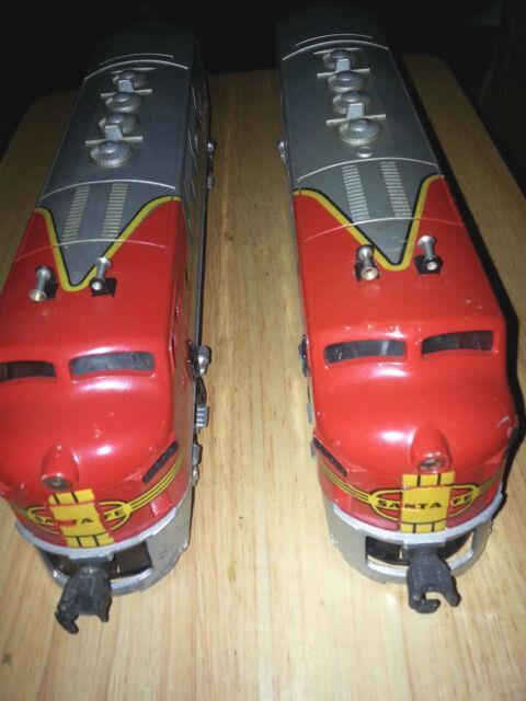 Vintage Lionel O Gauge Train Locomotive Santa Fe Boxed Set 2353 F3aa Diesel