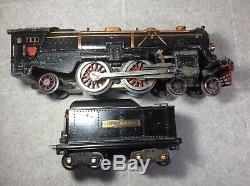 Vintage Prewar Lionel # 392e Loco And # 384t Tender Standard Gauge